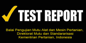test report mesin pertanian agrowindo
