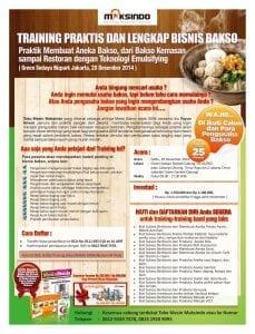 Training  Bisnis Bakso 20 Desember 2014 Jakarta