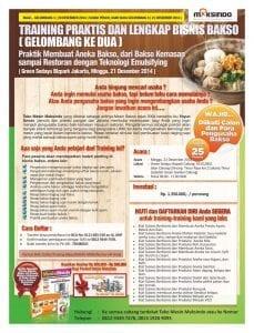 Training Bisnis Bakso 21 Desember 2014 Jakarta