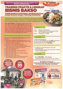 Training Bisnis Bakso di Jakarta 1 Februari 2015
