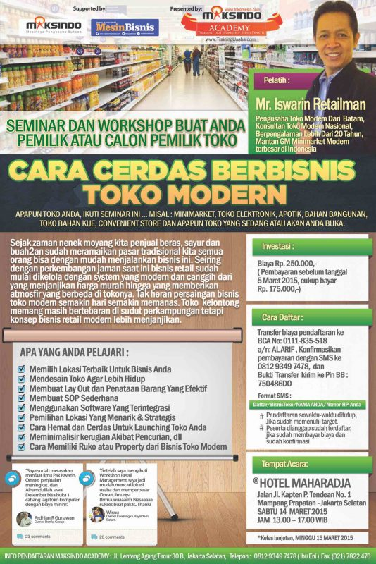 seminar bisnis retail