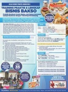 Training Bisnis Bakso 27 Maret 205