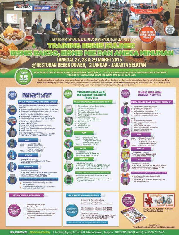 training bisnis kuliner 2015