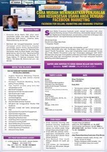 Workshop Facebook Marketing, 3 Mei 2015