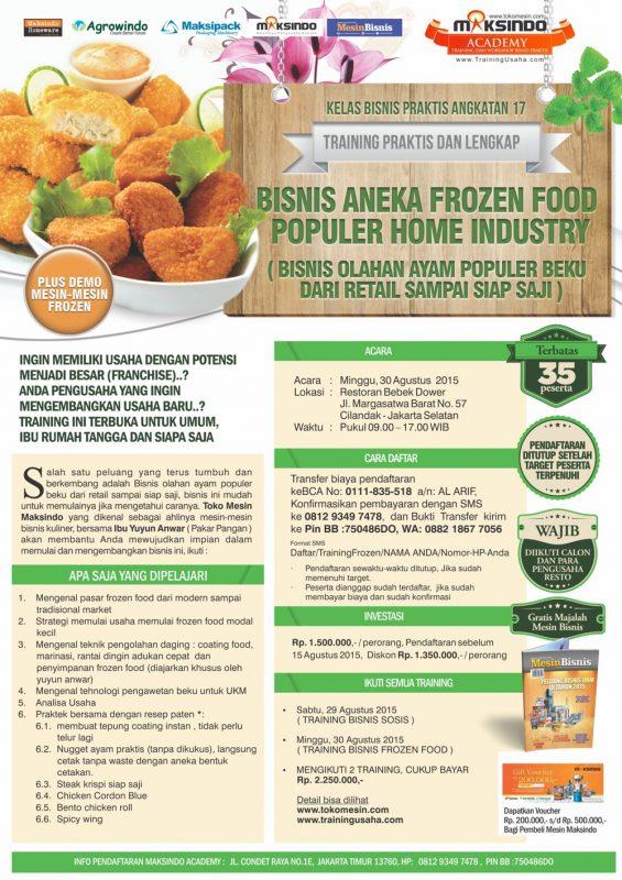 jakarta Training Frozen Food 30 Agustus 2015