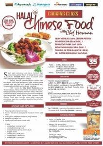 Training Halal Chinese Food, 23 januari 2016