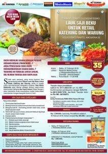 Training Bisnis Kuliner Lauk Saji Beku Katering / Warung 27 Feb 2016