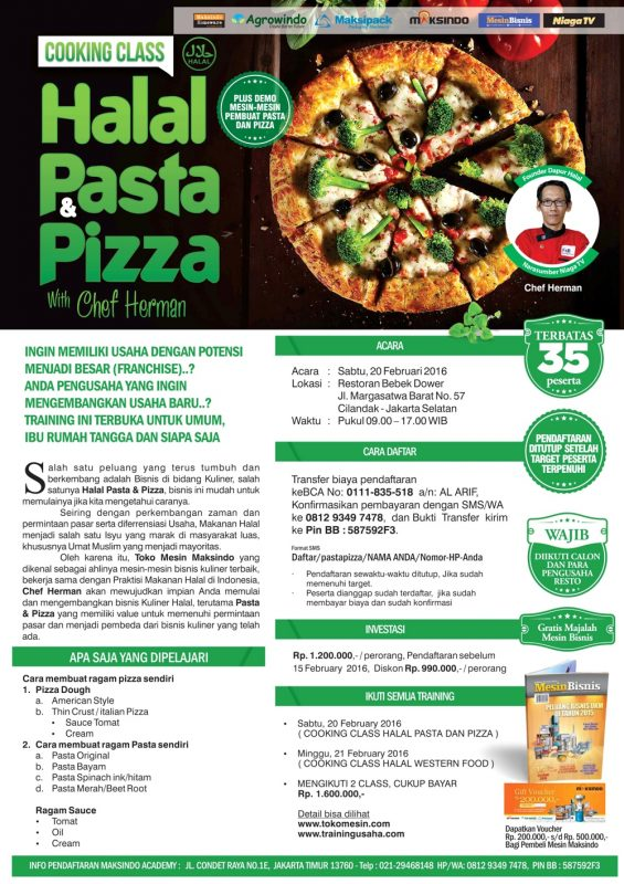 training halal pasta maksindo