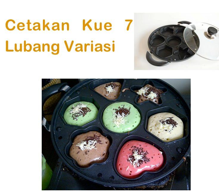 cetakan kue 7 lubang variasi lumpur