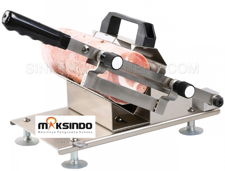 alat perajang manual meat slicer