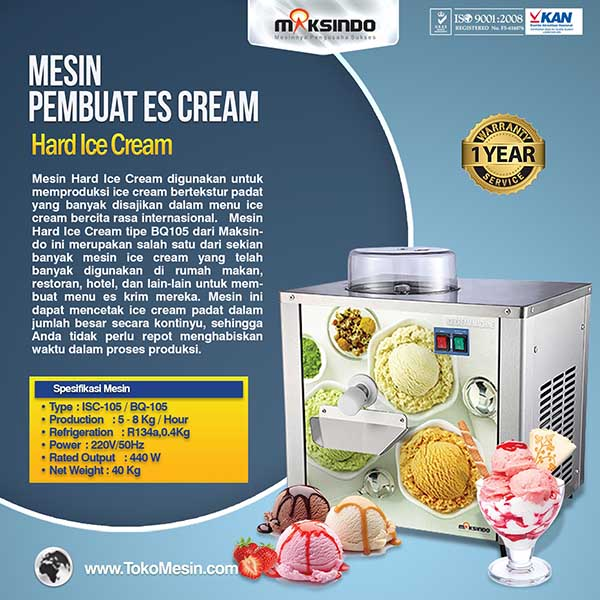 Mesin Hard Ice Cream (Italia Compressor) – ISC-105