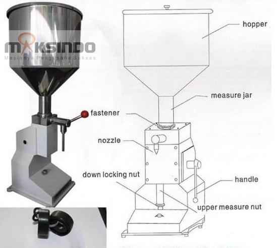 mesin manual filling pengisi cairan cream