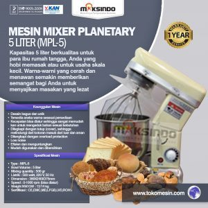 Mixer roti 10 liter ala industri rumahan