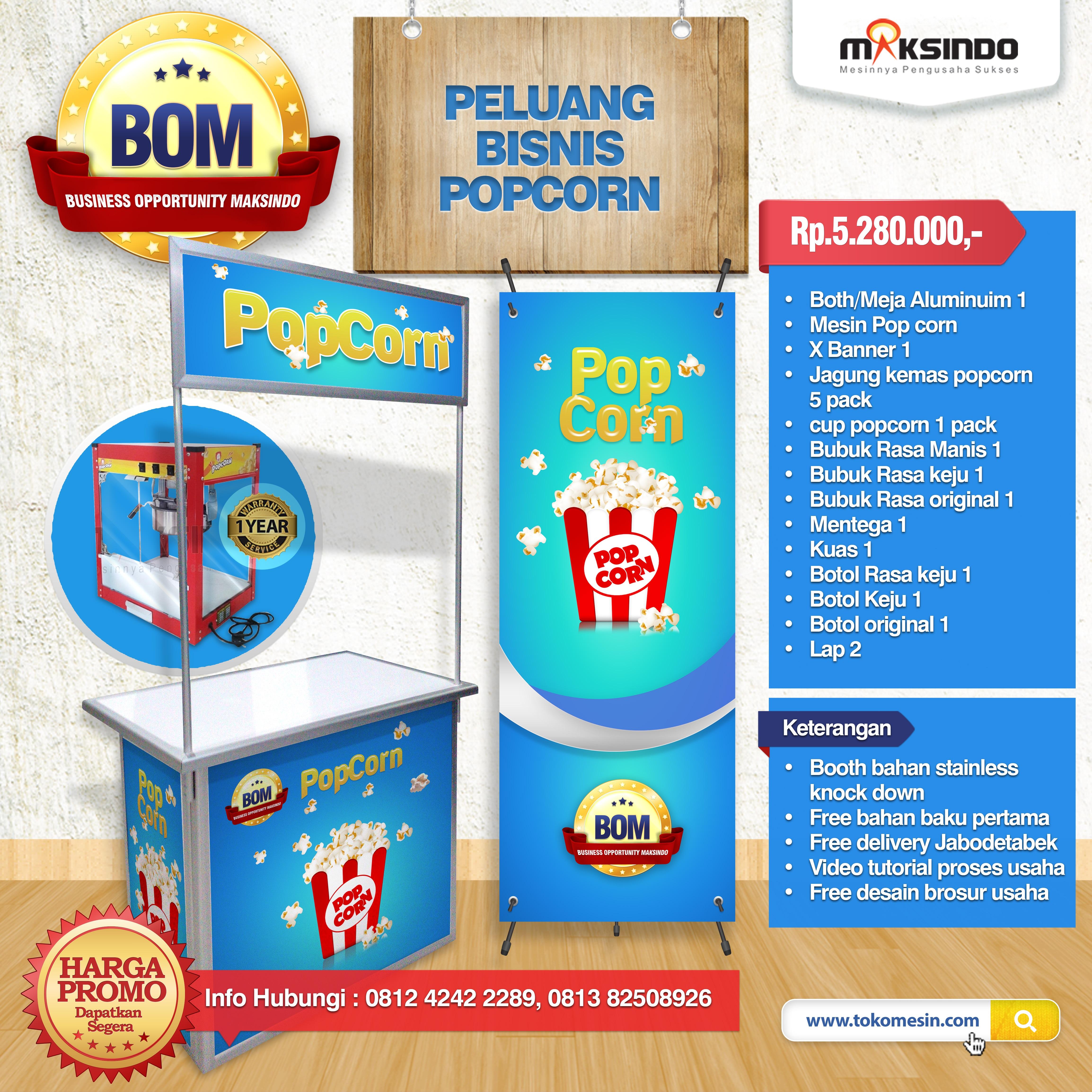 Paket Usaha Popcorn Progam BOM