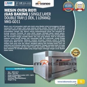 Mesin Oven Roti Gas (MKS-GO11)