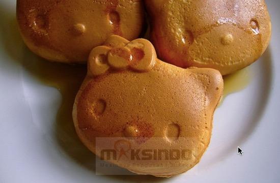 Mesin Cetak Kue Waffle Bentuk Hello Kity Kitty1 Toko