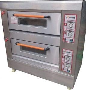 Mesin Oven Roti Gas 2 Rak 4 Loyang MKS-GO24
