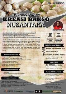 Training Usaha Kreasi Bakso Nusantara, 24 Desember 2017