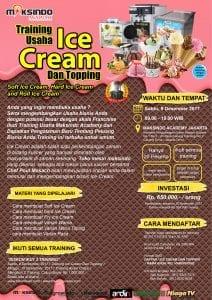 Training Usaha Ice Cream dan Topping, 09 Desember 2017