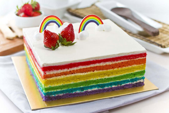 Resep Rainbow Cake Kukus Istimewa: Cara Membuat Roti Tart Kukus Yang Empuk Dengan Macam