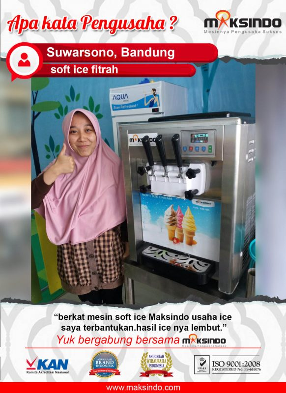 Soft Ice Fitrah : Mesin Soft Ice Cream Membantu Usaha