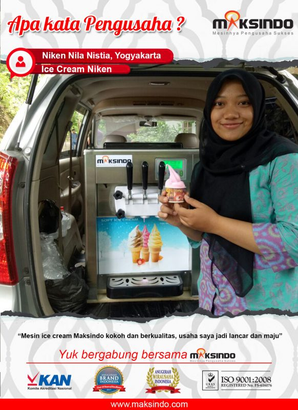 Ice Cream Niken : Mesin Ice Cream Maksindo Berkualitas