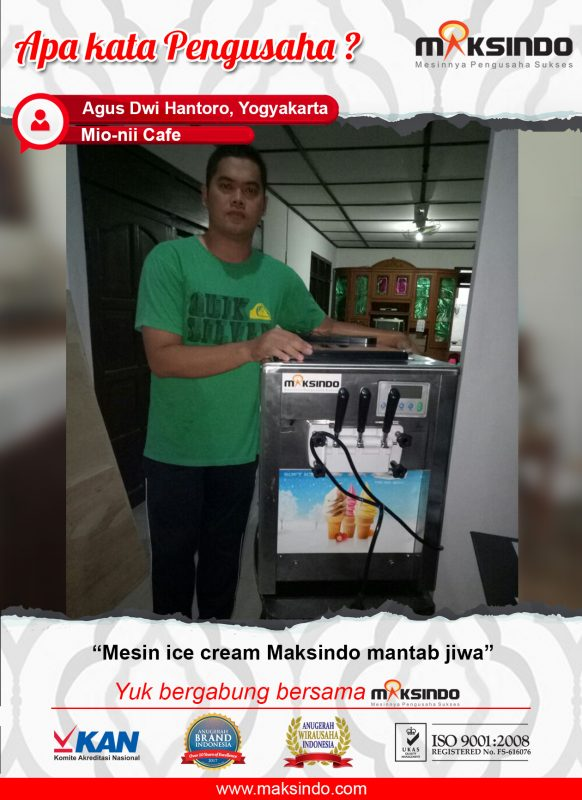 "Mio-Nii cafe : Mesin Ice Cream Maksindo ""Mantap Jiwa"""