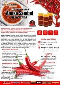 Training Usaha Aneka Sambal Nusantara, 21 Januari 2018
