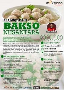 Training Usaha Bakso Nusantara, 28 Januari 2018