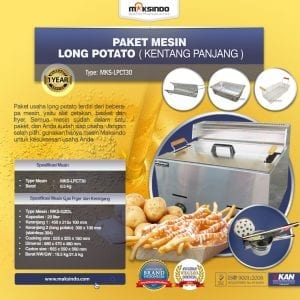 Paket Mesin Long Potato Kentang Panjang