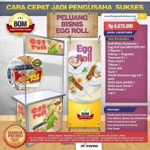 Paket Usaha Egg Roll Gas Progam BOM MKS-ERG007