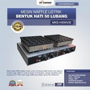 Mesin Waffle Bentuk Hati 50 Lubang MKS-HSW50E Listrik