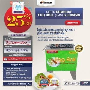 Mesin Egg Roll Gas 6 Lubang GRILLO-GS6