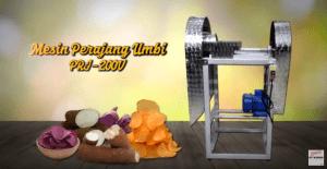 Video Mesin Perajang Singkong type PRJ-200V Untuk Merajang Singkong dan Umbi-Umbian