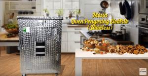 Video Mesin Oven Pengering Stainless (Listrik) Untuk Mengeringkan Berbagai Produk Makanan atau Hasil Pertanian