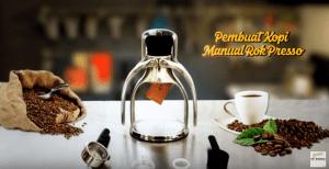 Video Mesin Pembuat Kopi Manual Rok Presso Untuk Membuat Kopi