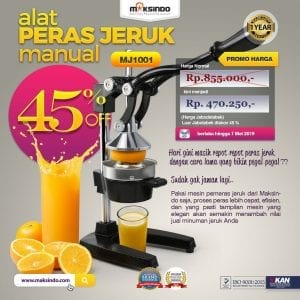 Alat Pemeras Jeruk Manual (MJ1001)