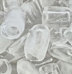 bentuk es batu kristal