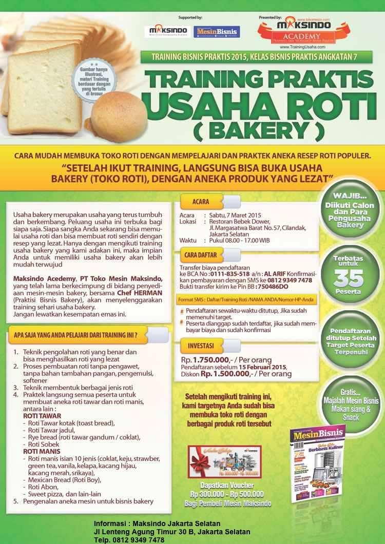 Training bisnis Roti 7 Maret 2015 baru