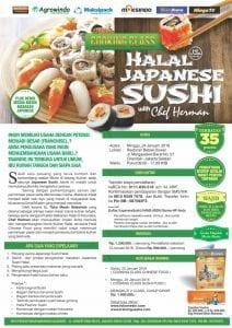 Training Halal Japanese Sushi, 24 Januari 2016