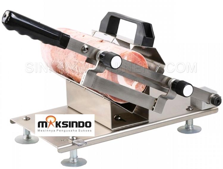 alat perajang manual meat slicer