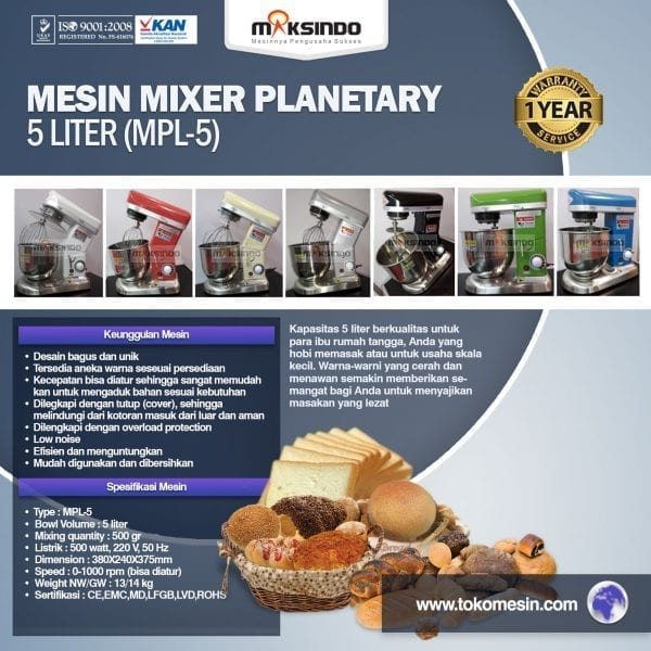 mesin mixer planetary