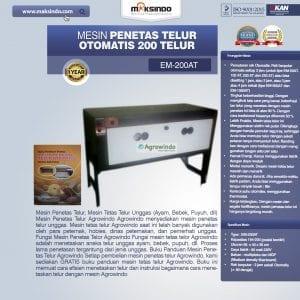 Mesin Penetas Telur Otomatis Kapasitas 200 Telur (EM-200AT)
