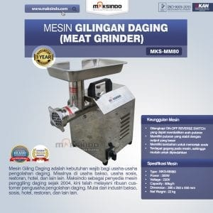 Mesin Giling Daging (Meat Grinder) MKS-MM80