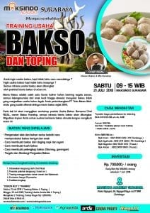 Training Usaha Bakso Dan Toping, 21 Juli 2018
