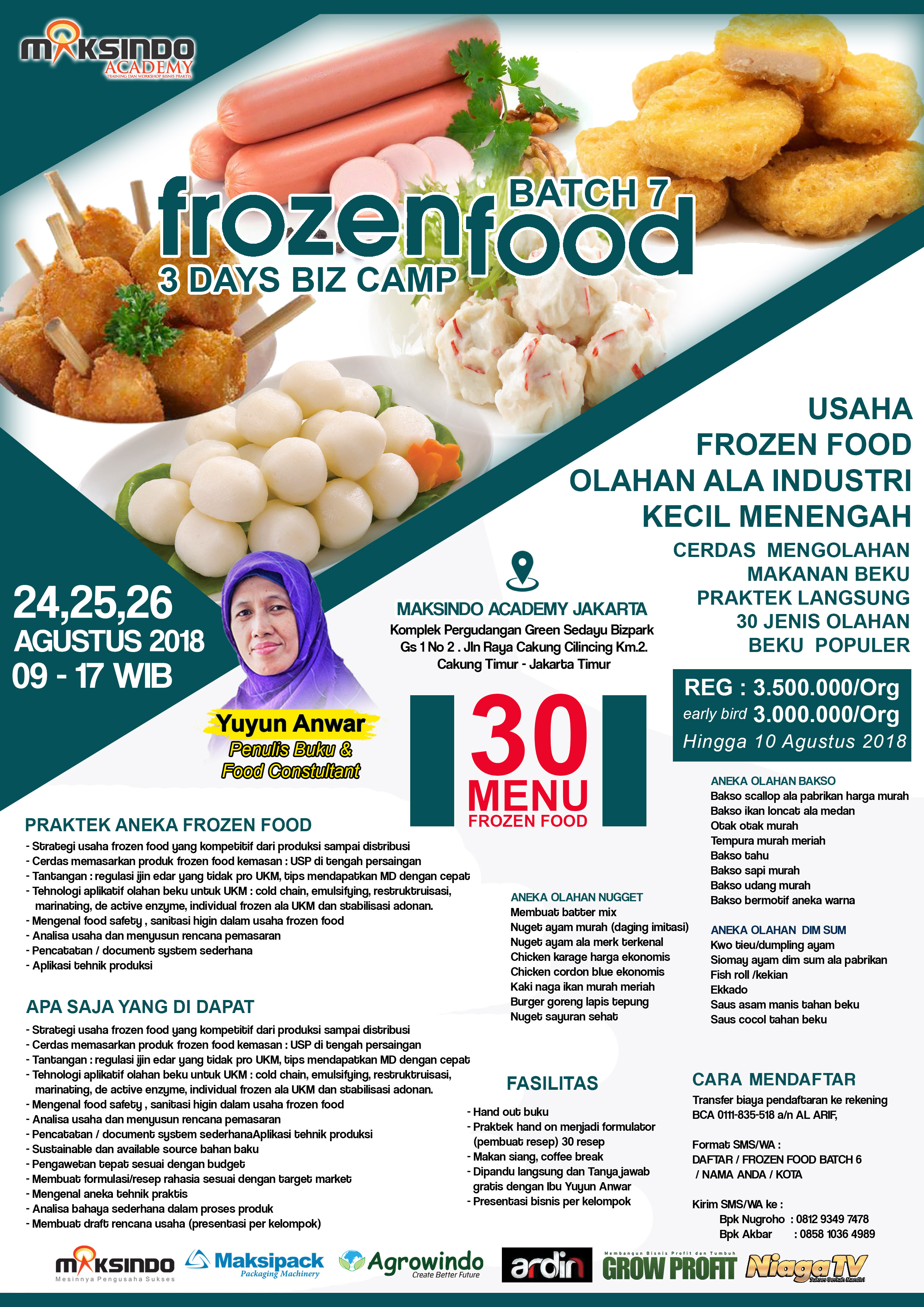 Training Usaha Frozen Food 3 4 5 September 2018 Toko Mesin