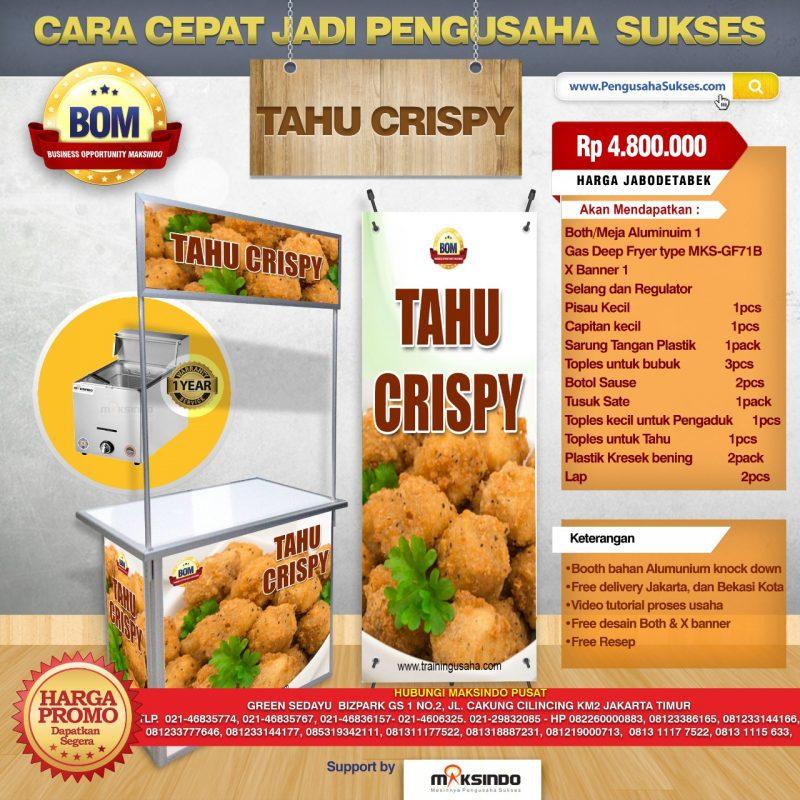 Paket Usaha Tahu Crispy Program Bom Toko Mesin Maksindo