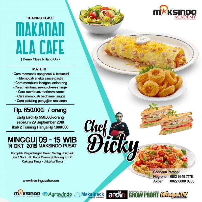 Training Usaha Makanan Ala Cafe 14 Oktober 2018 Toko Mesin Maksindo
