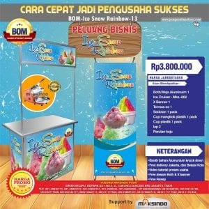Paket Usaha Ice Snow Rainbow Program BOM-MKS-002