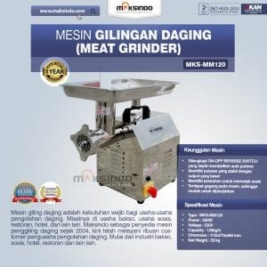 Mesin Giling Daging (Meat Grinder) MKS-MM120